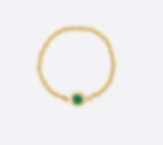 Dior Mimirose 系列戒指,18K黃金鑲嵌祖母綠,NT$27,500