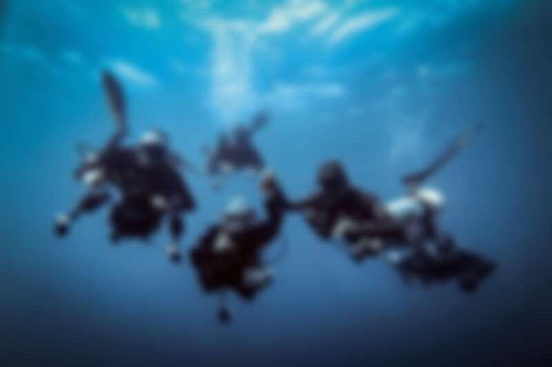 ▲袁緒虎(右)享受每次潛水的樂趣。(圖/袁緒虎提供)