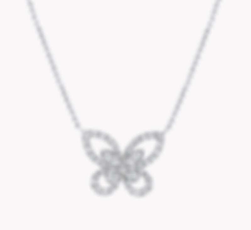 Graff 蝴蝶幻影迷你鑽石吊墜 項鏈,鑽石0.35克拉,NT$ 165,000