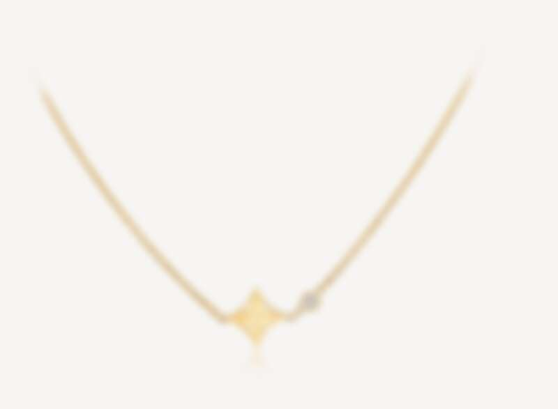 Louis Vuitton Idylle Blossom 系列吊墜項鍊,18K黃金鑲嵌鑽石,NT$72,500