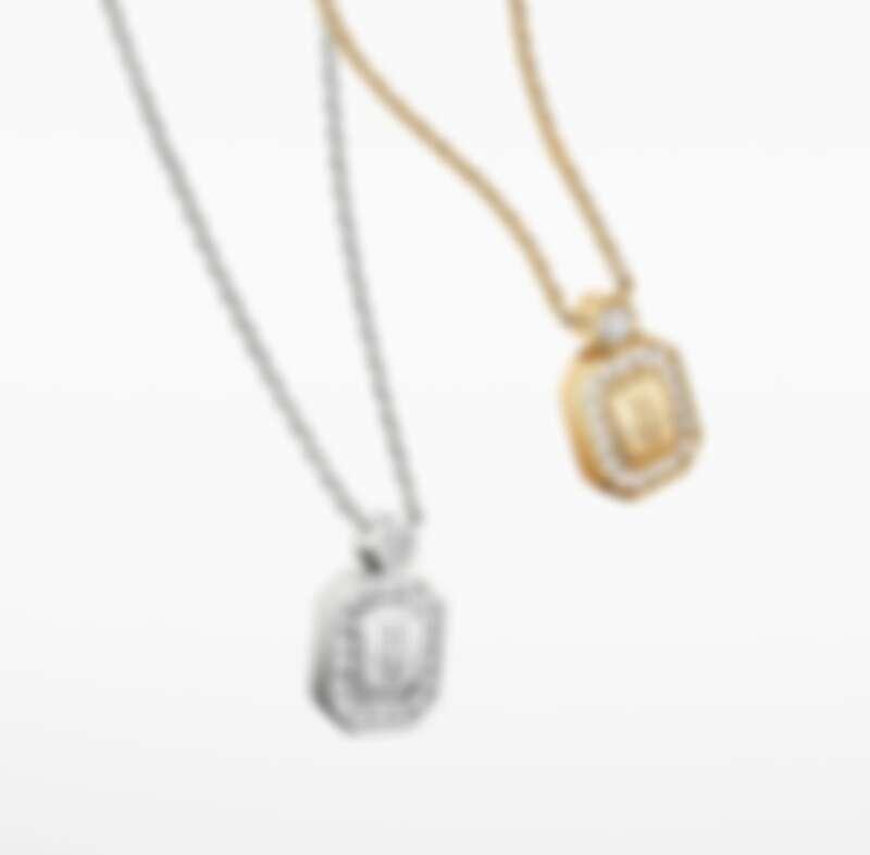 Harry Winston HW Logo系列18K黃金鑽石墜飾