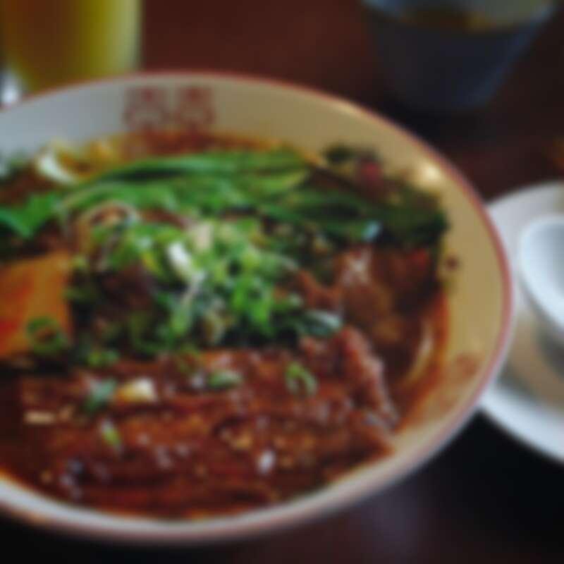 招牌牛肉麵有三種口味可供選擇。