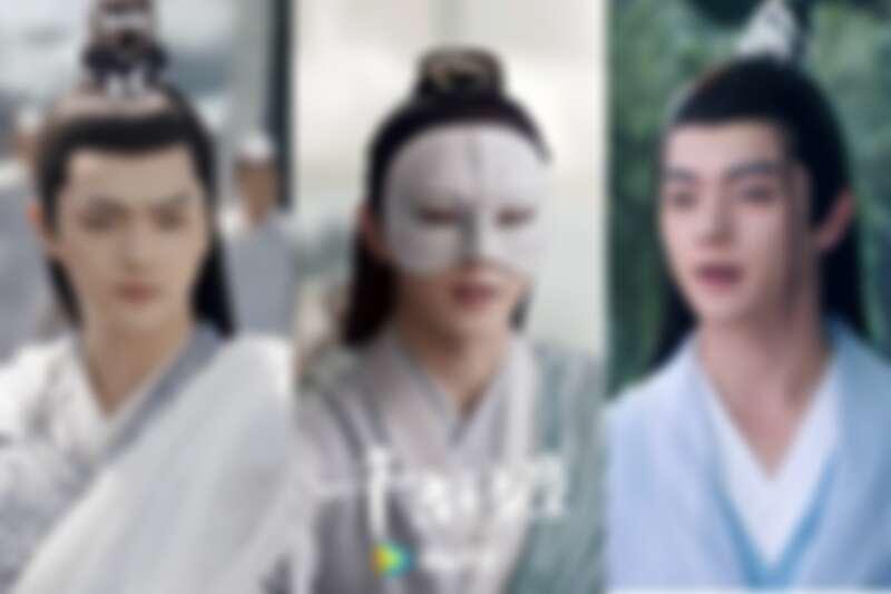 《千古玦塵》許凱分飾白玦上神、蒙面柏玄、清穆上君(左起)