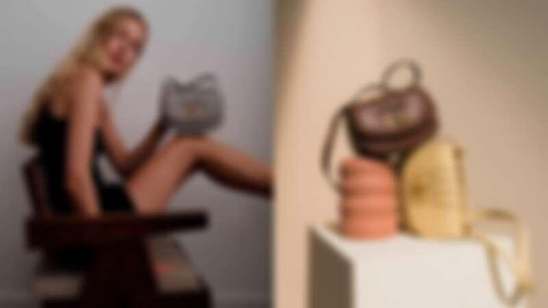 Bally B-Chain系列Bombé皮革半月包,售價NT$52,800