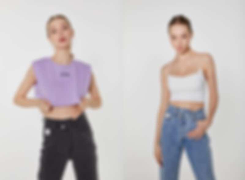 腰間不對襯的牛仔褲開合釦細節設計,更是可以看出整款牛仔褲的設計巧思有多麼細膩與用心。