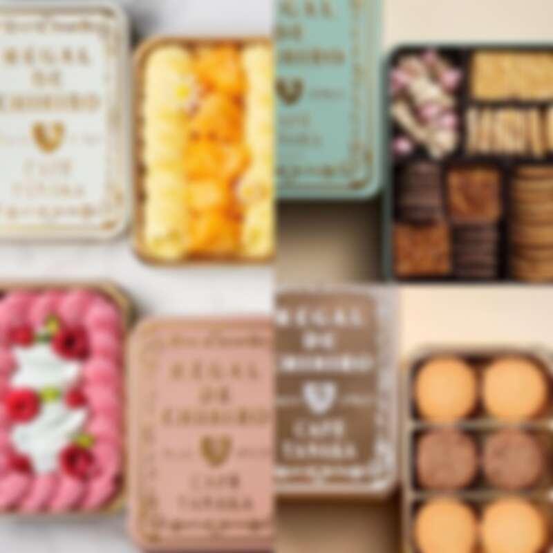除了鐵盒餅乾外,也有需要冷藏的鐵盒蛋糕商品。
