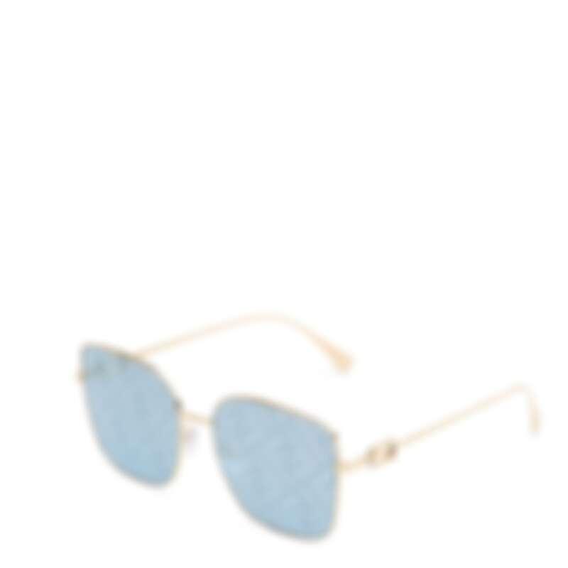FENDI Baguette系列水藍色FF LOGO太陽眼鏡,NT15,600。