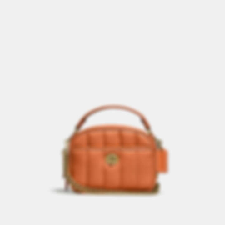 Coach Lunchbox 頂部提把絎縫手袋,售價NT$23,800