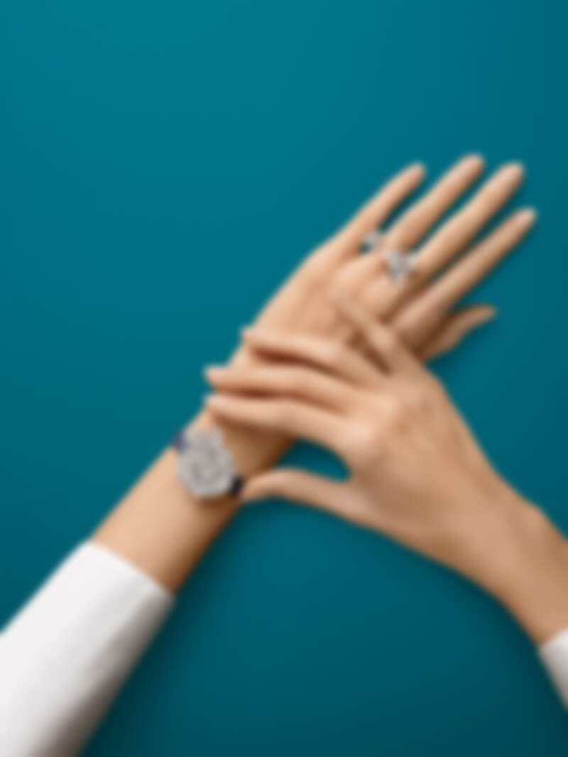 Frivole Secrète神秘腕錶(白K金、鑽石、石英機芯),建議售價約新台幣4,000,000元