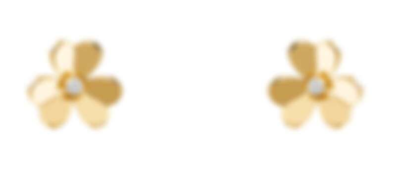 Frivole耳環,迷你款式,黃K金,鑽石,建議售價約新台幣$85,500元