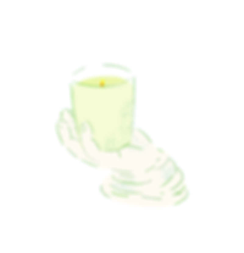 ▲Palais d'Hiver 香氛蠟燭,Astier de Villatte、 手造型白瓷蠟燭架,Astier de Villatte。(插圖/Mori三木森)