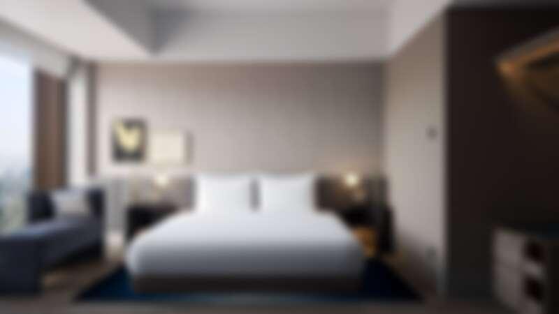高雄洲際酒店套房臥室區域