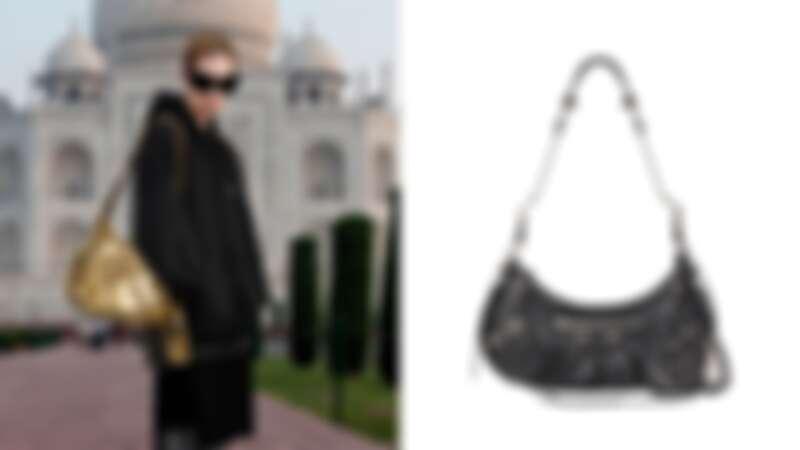 Le Cagole Small Shoulder Bag黑色小羊皮肩下包,NT59,900