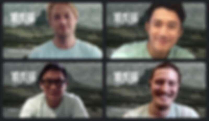 《斯卡羅》導演曹瑞原(左下)、演員吳慷仁(右上)、法比歐(左上)、周厚安7/17出席線上媒體聯訪