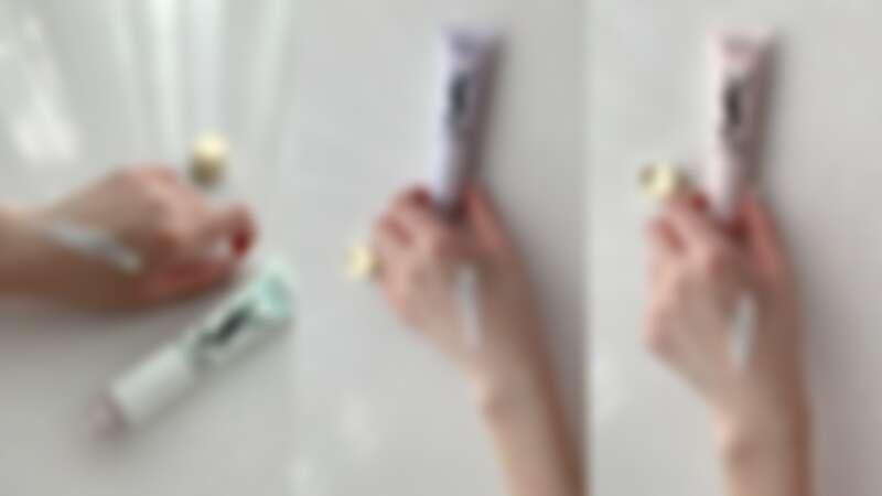 YSL名模肌密光幻防護妝前乳,三色示範。