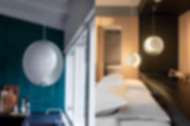 Moon 月光吊燈(白),北歐櫥窗,NT35,800元。