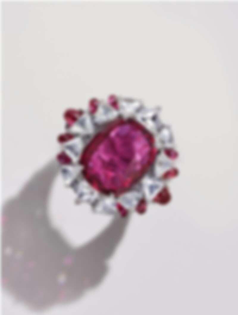 Phaan 紅寶石與鑽石戒指