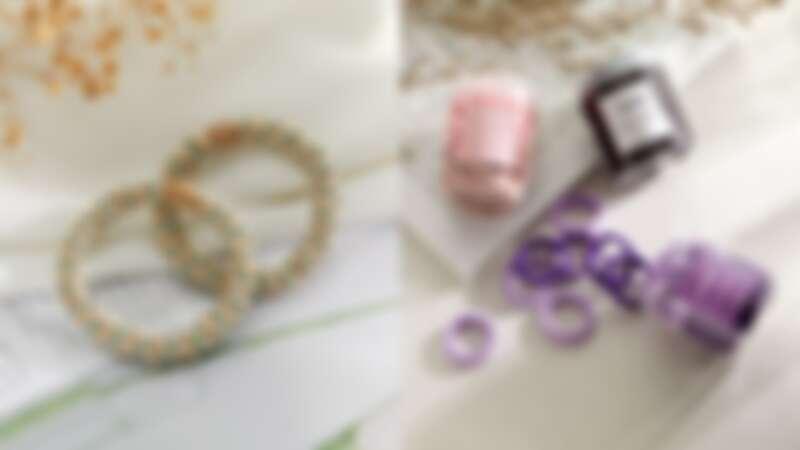 (左)正韓O束不夾髮絲,NT78、(右)罐裝雙色多入毛巾圈,NT89(寶雅提供)