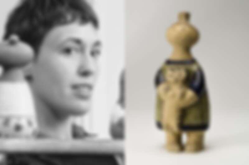 左為設計師 Lisa Larson,以滑稽可愛表情的陶偶深受收藏家喜愛。