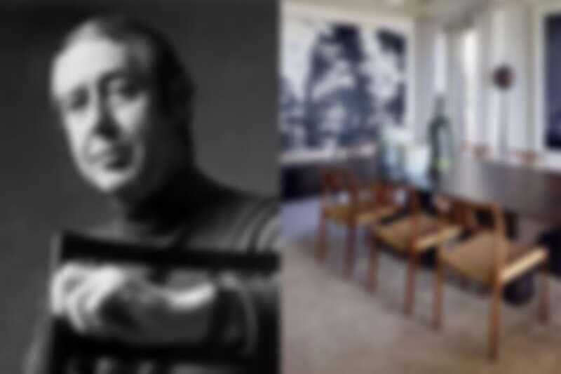 左為Niels O. Møller 為丹麥設計師(翻攝自 www.designdaily.com.au),右為79號椅藤編椅面版本。