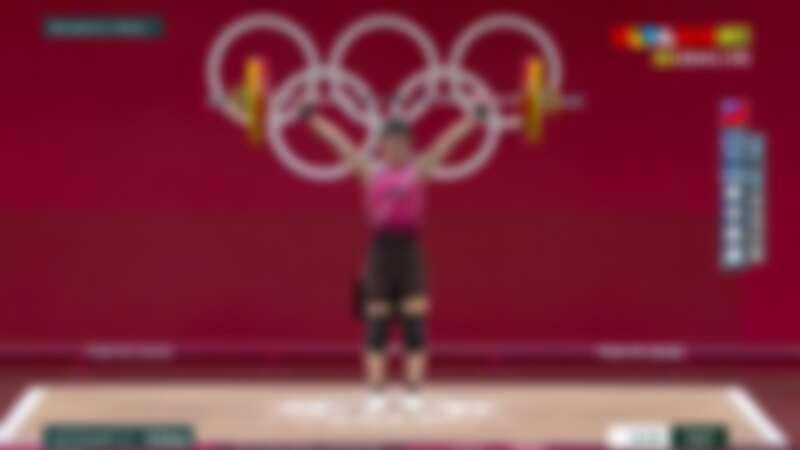 恭喜郭婞在2020東京奧運舉重獲得金牌