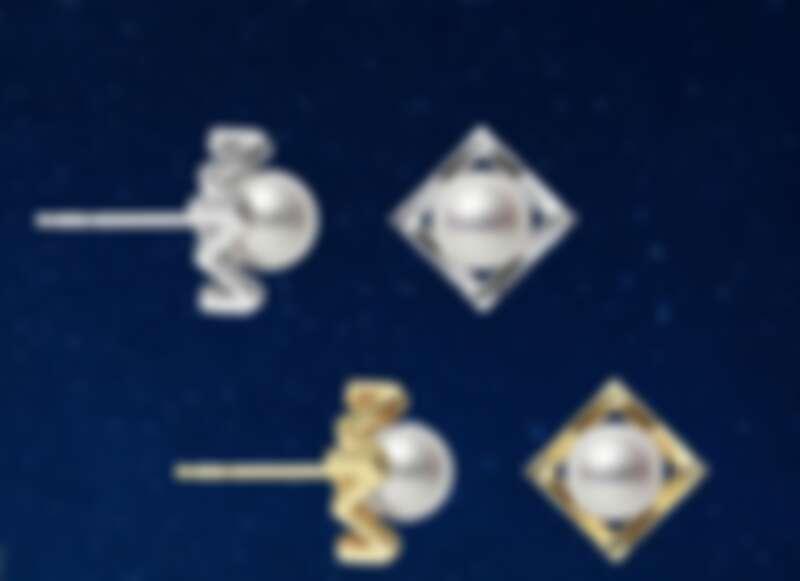 Mikimoto M 系列 18K金鑲嵌珍珠耳環,售價電洽。