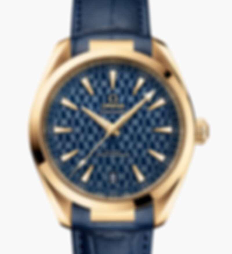 Omega歐米茄 海馬系列Aqua Terra 150米系列 同軸擒縱41毫米大師天文台18K黃金手錶