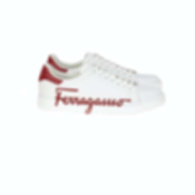 Glamour紅白色小牛皮休閒鞋,NT21,900
