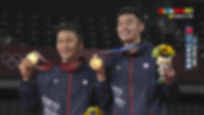 王齊麟、李洋成功獲得東京奧運羽球金牌