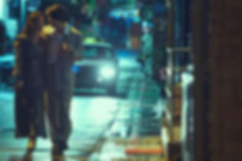 《華燈初上》林心如(左)與飾演電視台編劇的鳳小岳有精彩對手戲