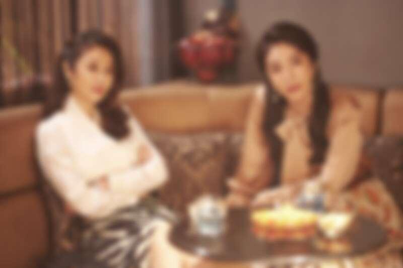 《華燈初上》林心如(左)、楊謹華為了維持媽媽桑的曼妙體態,拍戲期間特別克制飲食