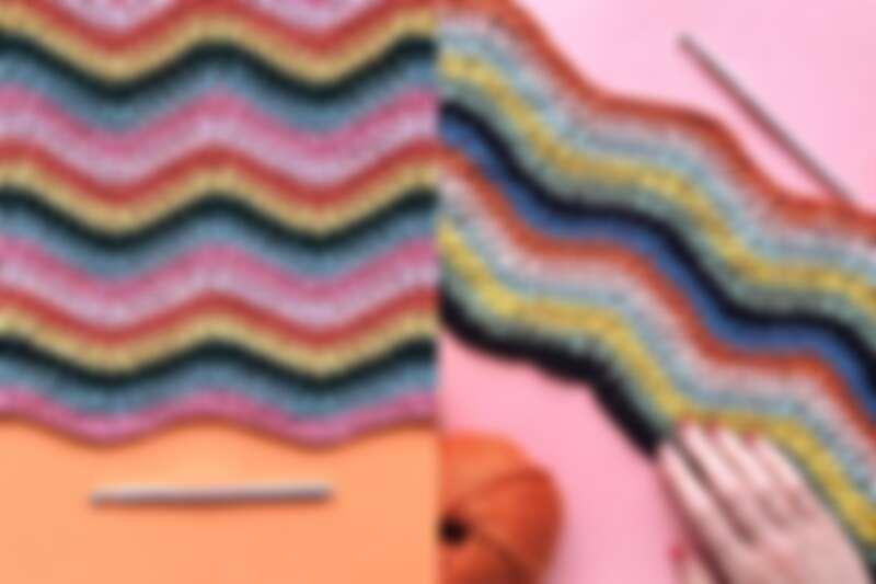 使用鉤針編織。
