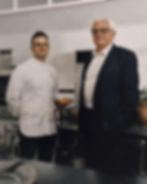 (右)迪奧首席調香師François Demachy與(左)法國甜點主廚Julien Dugourd