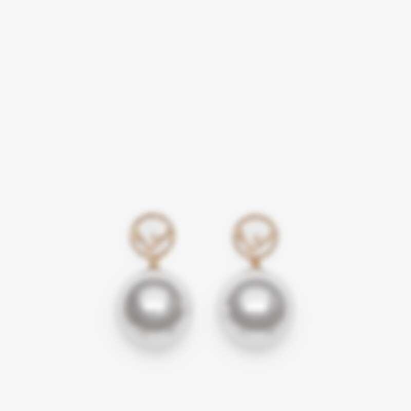 Fendi F Logo珍珠水晶耳環,NT11,800