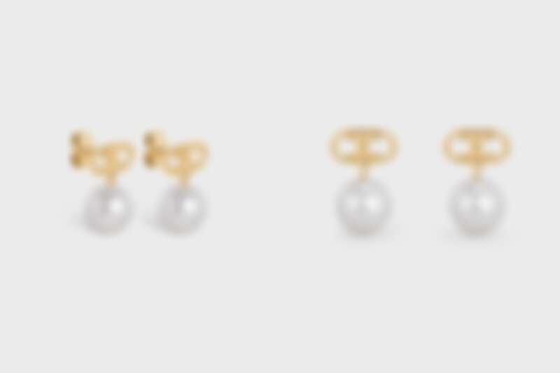 CELINE TRIOMPHE金色耳環,NT15,500