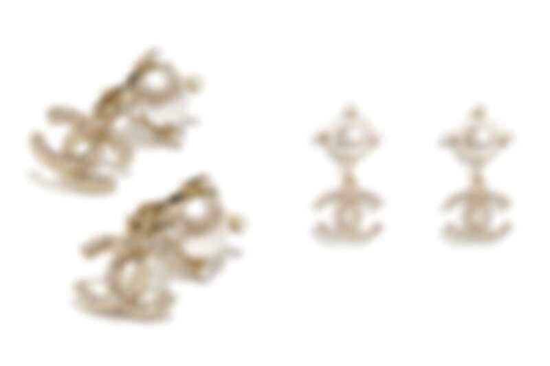 Chanel復古系珍珠白耳環,NT13,800
