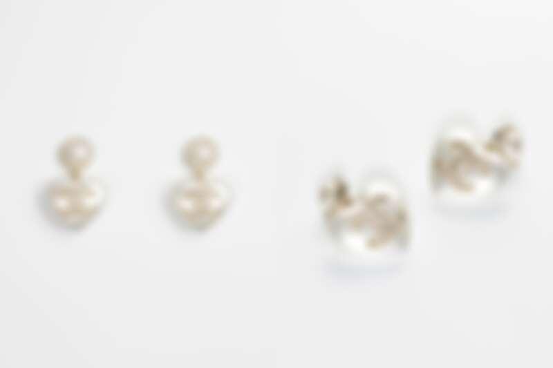 Chanel幻象珍珠愛心耳環,NT31,500