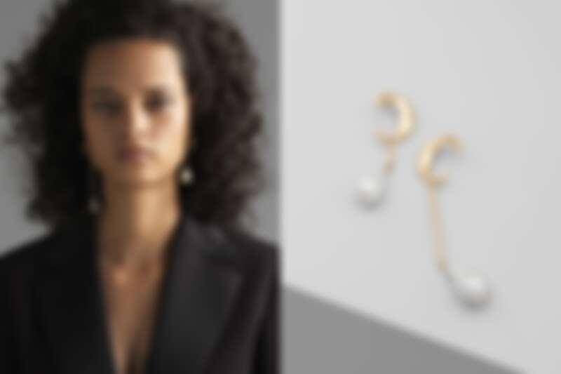 Chloé巴洛克式珍珠耳環