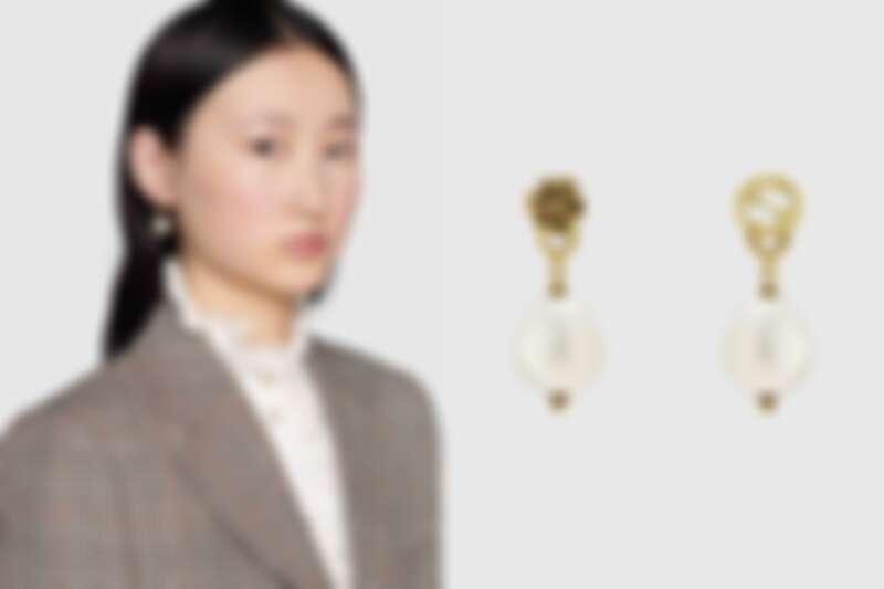 Gucci G Logo復古珍珠耳環