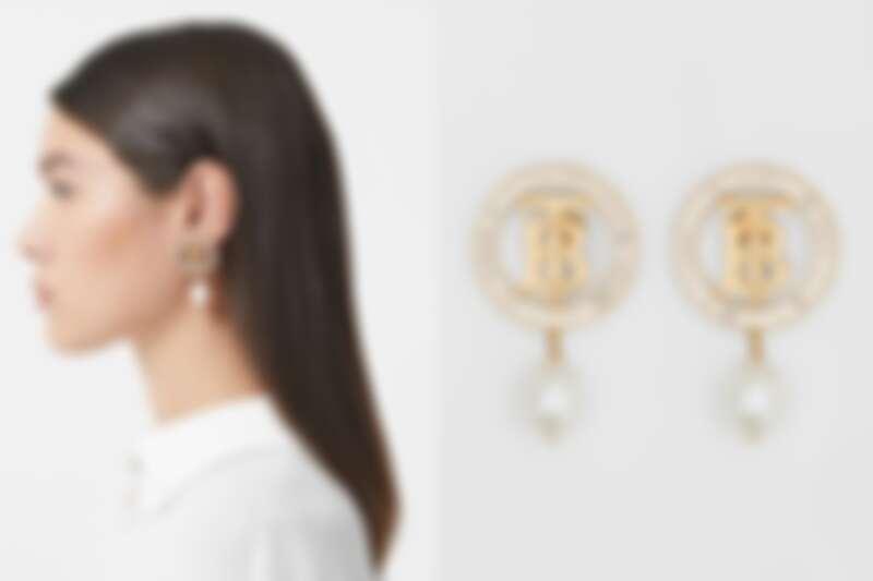 Burberry珍珠裝飾夾式耳環,NT20,900