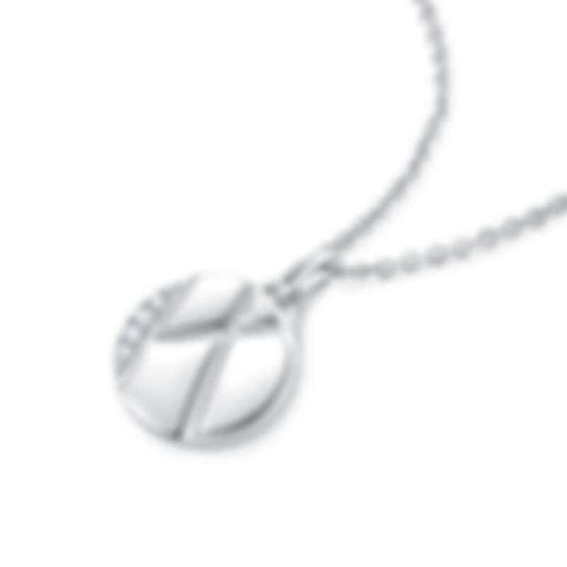 周大福「玄彬 925」系列 18K 白色黃金美鑽項鍊 售價:約 NT$20,400 起