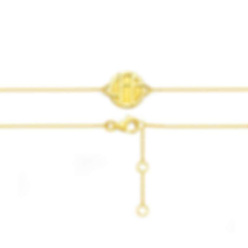 周大福「玄彬 925」系列 18K 黃色黃金手鍊 售價:約 NT$9300 起