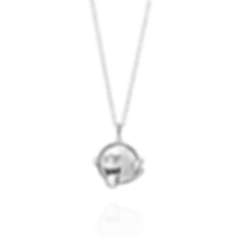 Super Mario X Justin Davis聯名項鍊——害羞幽靈(銀),售價日幣29,700圓