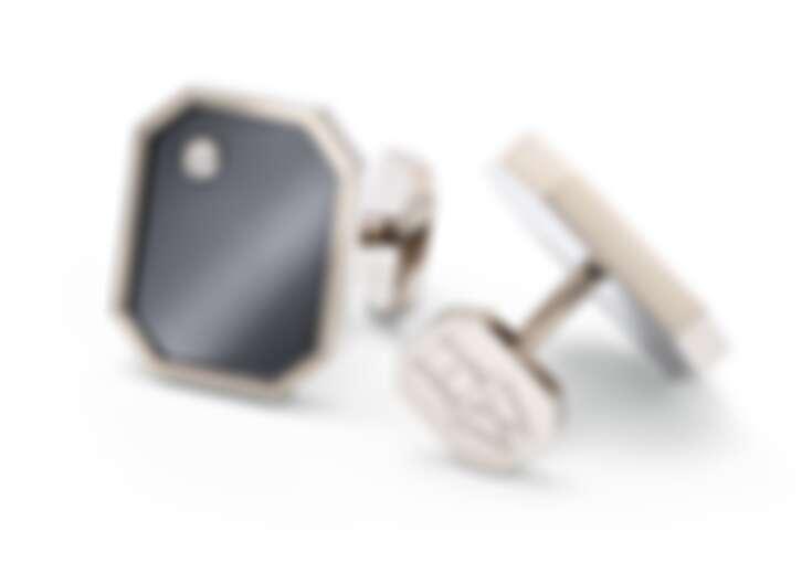 Harry Winston 海瑞溫斯頓 Zalium鋯合金襯衫袖扣,售價約NT$ 180,000