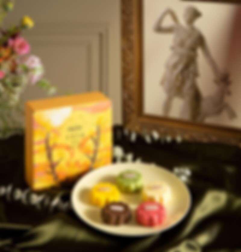 「月神光彩」冰淇淋月餅禮盒,NT1,280(5入)