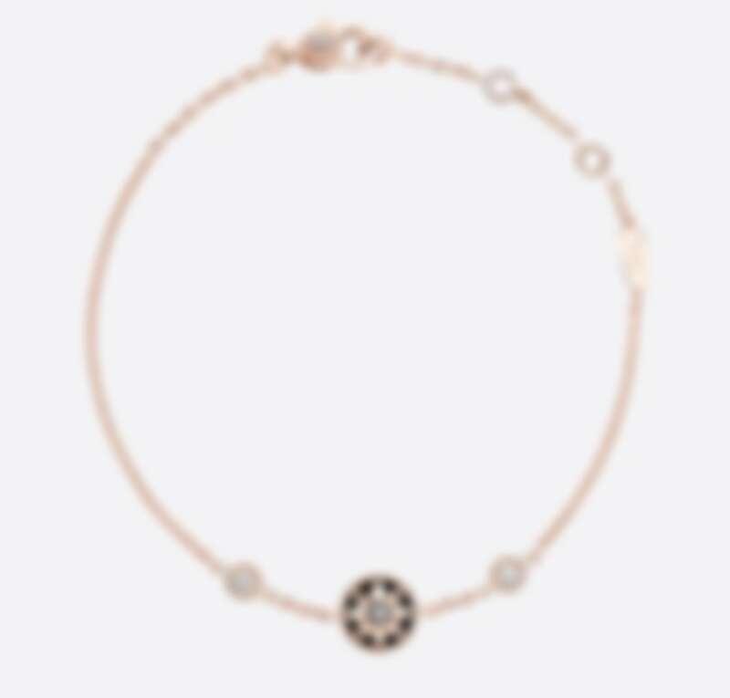 Dior Rose des Vents 系列手鍊,玫瑰金鑲嵌鑽石與縞瑪瑙,售價NT$79,500