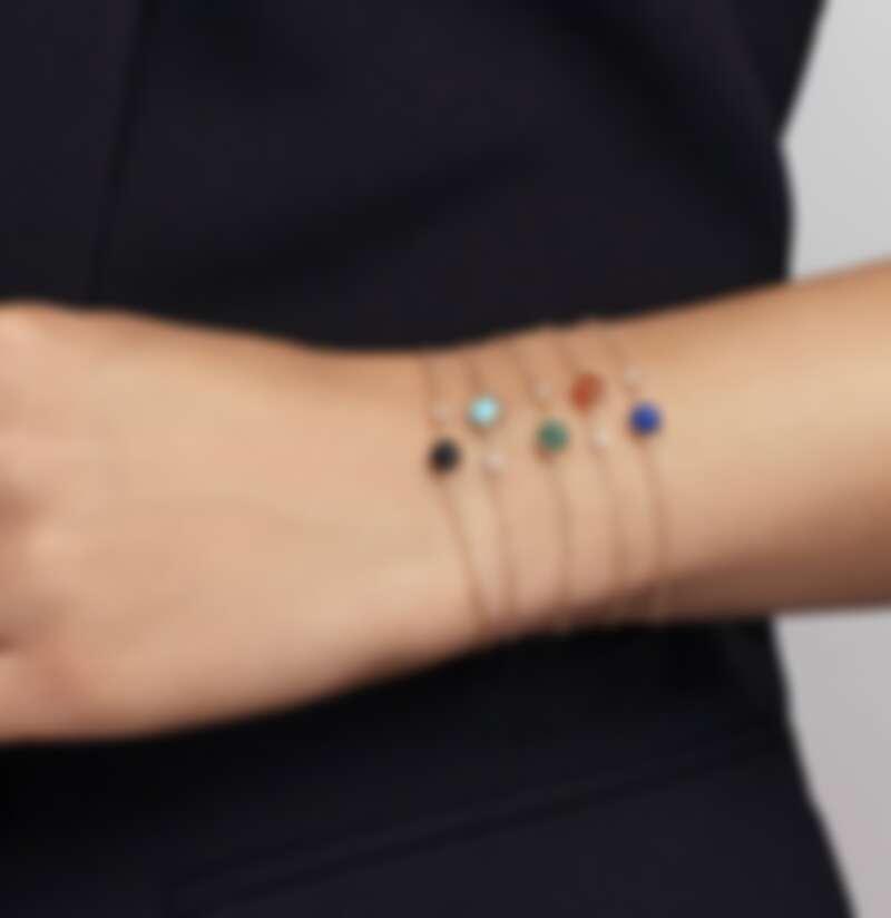 Piaget Possession 系列手鍊,玫瑰金鑲嵌鑽石與縞瑪瑙(與更多彩寶),售價NT$46,500