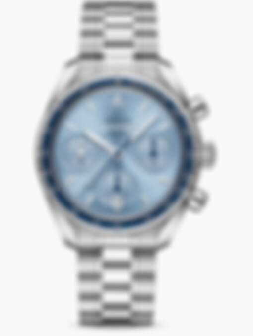 歐米茄 Speedmaster超霸38毫米同軸擒縱天文台計時機芯系列手錶,全鋼款售價NT$167,000起