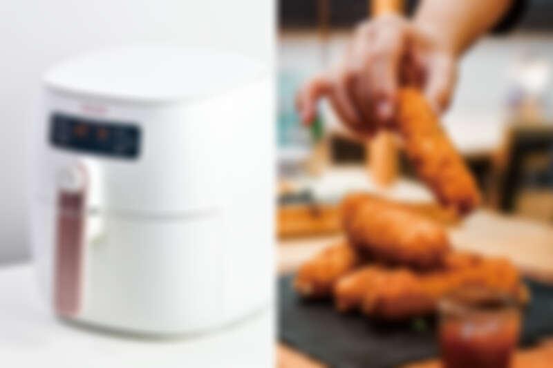 氣炸鍋料理過程「免解凍、免預熱、免翻面」十分方便快速。