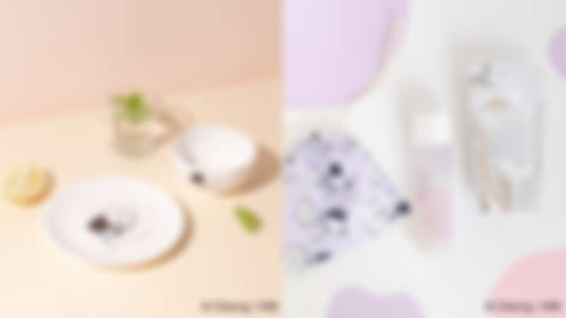ORBIS X LAIMO吃貨碗盤組與ORBIS X LAIMO有你真好束口袋。